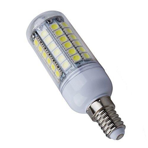 SODIAL(R) E14 8W Ampoule Lampe Spot Mais 69 LED 5050 SMD Blanc 6500K 500LM