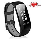 Fitness Tracker, OMORC Activity Tracker Cardiofrequenzimetro Bluetooth 4.0...
