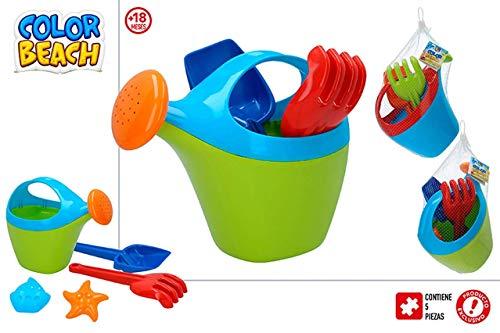 ColorBaby Conjunto Playa REGADERA Y Palas 27 CM con MOLDES Mod SDOS 24936