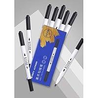 M-zutx Rotulador/Firma de la pluma/Negro Grasa gancho del tubo de la pluma/Arte Stroke doble dirigió neumáticos Pen/impermeable rotulador Escritura sin problemas y no es fácil a desaparecer