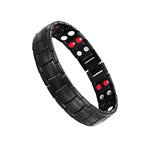 Jeracol Magnetarmband Herren Titanium Stahl Magnetische Armband für Herren Doppel Starke Gesundheit Magnetarmband Schmerzlinderung für Arthritis und Karpaltunnel.