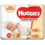 Huggies New Born Taped Diapers (22 Counts)