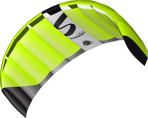 HQ Lenkdrachen Lenkmatte Drachen Symphony Pro 1.8 Neon Green Kite Limited Edition