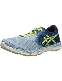 Zapatillas de running para mujer 33-DFA, Milk Blue / Sunny Lime / Mosaic Blue, 6 M US