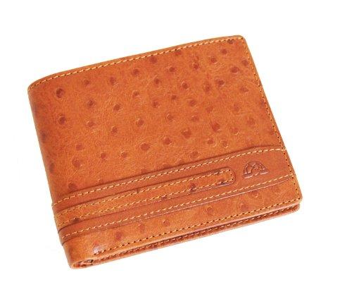 Tony Perotti TP05370 Geldbörse aus italienischem Straußenleder, Cognac - Straußenleder Handtasche