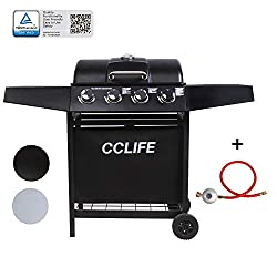 CCLIFE Gasgrill Grillwagen Gas Grill Barbecue Toronto Grill 3/4/5/6 Brenner mit Zubehör TÜV geprüft