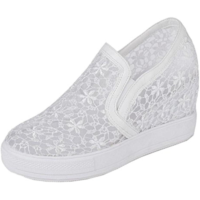 RAZAMAZA Femmes Compensé Espadrilles Espadrilles Compensé Chaussures Marcher Respirantes - B07B6BF6BK - 815372