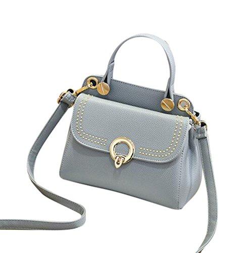 Baymate Fashion Cartella Borsa Donna Messenger Borsa Messenger Bag Grigio Scuro