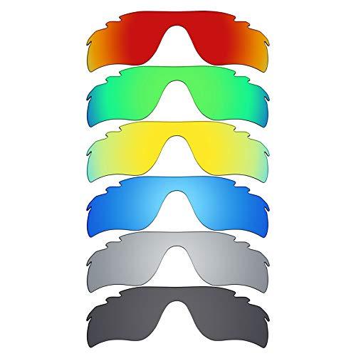 MRY 6Paar Polarisierte Ersatz Gläser für Oakley Radarlock Path Vented Sonnenbrille