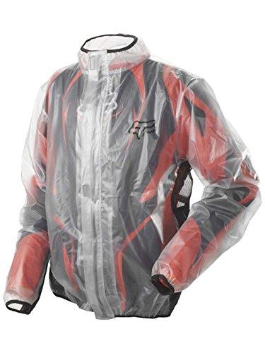 FOX Herren Regenjacke MX Fluid Jacket Transparent