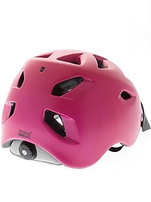 Bern Satin Fuchsia-Purple-Black 2016 Prescott Zipmold-Visor Womens MTB Helmet by Bern