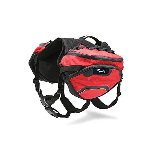 PETTOM Hund Sattletasche Hunderucksack Schultertasche für Hunde und Katzen Transportbox Haustiertasche Einstellbar Tragbar Tasche Waterproof Hund Pack Reisen Camping Wandern Trainings