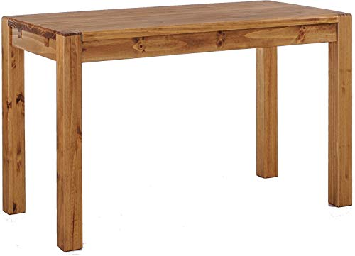 Brasilmöbel Esstisch Rio Kanto 120x73 cm Brasil Pinie Massivholz Größe und Farbe wählbar Esszimmertisch Küchentisch Holztisch Echtholz vorgerichtet für Ansteckplatten Tisch ausziehbar