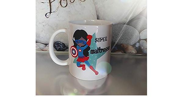 Ma/îtresse id/ée cadeau Anniversaire No/ël Mug Super Ma/îtresse en c/éramique