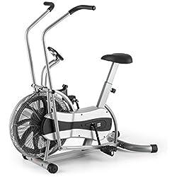 CAPITAL SPORTS Stormstrike 2k Máquina Elíptica Bicicleta Ergómetro Resistencia Infinita Regulación contínua Entrenamiento piernas y brazos simultáneo Altura regulable Máx 120 kg Plateada