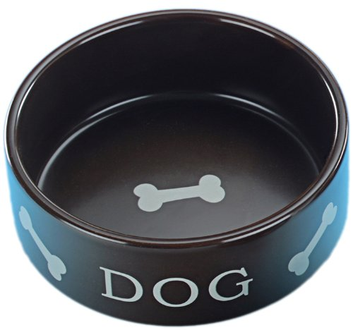 "Nobby 69951 Hundenapf Keramik \""DOG\"" Ø 15 cm, mattbraun"