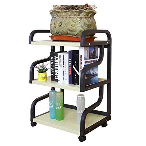 Drucker Ständer Office Copy Rack Wohnzimmer Ablageboden Home Floor Drucker Regal Kitchen Organizer, 360 ° Mobile ( Color : White , Size : 50*40*81CM ) -