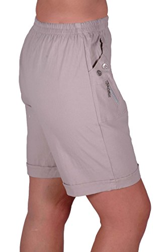 EyeCatch - Short comfort stretch grandes tailles -Femme New Pierre
