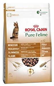 Royal Canin Cat Food Pure No 2 Slimness Dry Mix 300 g (Pack of 4)