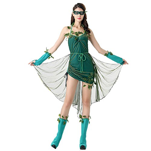 Elfen Cosplay Kostüm - Costour Frauen Grüne Elfe Aufführung Kostüm Baum Elfe Kostüm Milchseide Grün