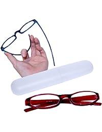 Flexible und leichte Lesebrille Lesehilfe mit Brillenetui in 5 Farben - kompakt und stabil - LB005