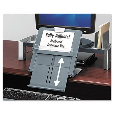 """Fellowes - In-Line Document Holder, Foldable, 12""""x2-1/2""""x7-1/2"""", Black, Sold as 1 Each, FEL8039401"""