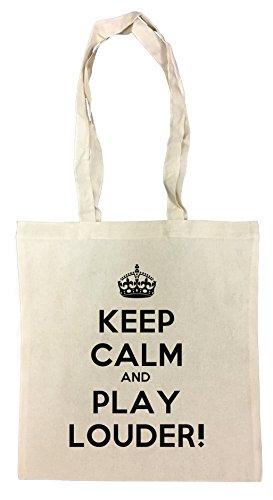 keep-calm-and-play-louder-borsa-della-spesa-riutilizzabile-cotton-shopping-bag-reusable