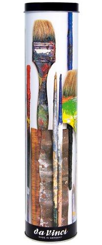 Da Vinci Öl & Acryl Serie 5403College Pinsel-Set, Synthetik mit Geschenk kann, mehrere Größen, 10Pinsel (Serie 8733und 8740) College-set
