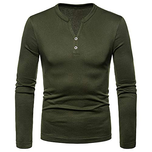 Sweatshirt Herren Briskorry Mode Männer Slim Fit Kapuzenpullover Pulli Henry Shirt Einfarbig Langarmshirt Outwear Bluse Tops