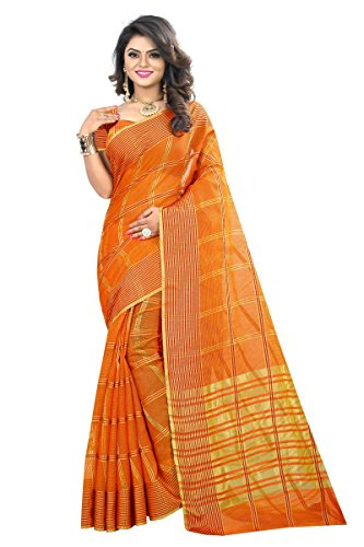 J B Fashion Women's Cotton Jaqard Red color Saree for women With...