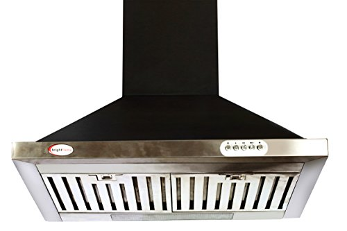 Bright Flame Brightflame Kitchen Chimney - Black 1100m3/hr & Lifetime Warranty