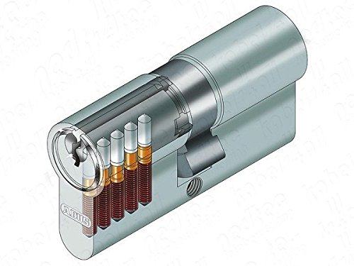 ABUS 585913E50_ N 35/45_ Sa eurocilindro mit Schlüssel Serreta Nickel semimontado