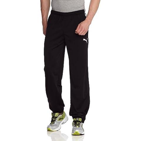 PUMA, Pantaloni Spirit, con cerniera lungo tutta la gamba, Uomo, Nero (Black/white), S