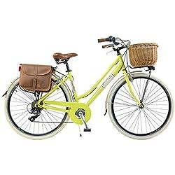 Vélo Citybike Byciclette CTB Femme Dame Vintage Retro Via Veneto Aluminium Jaune