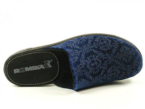 Romika Damen Romilastic 398 Pantoletten Blau