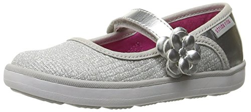 Stride Rite Marleigh Mary Jane (Toddler/Little Kid), Silver, 4.5 W US Toddler