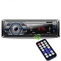 Sannysis Bluetooth Auto Audio FM DVD CD Reproductor de MP3 Receptor USB SD AUX Entrada