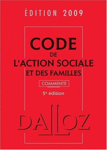 Code de l'action sociale et des familles 2009