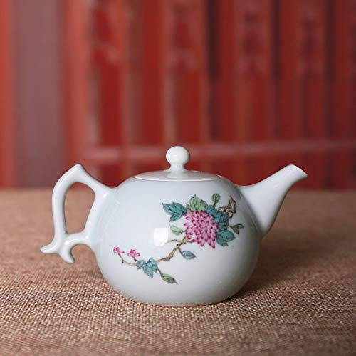 Keramik Kleine Wasserkrug Teekanne Jingdezhen Keramik Handbemalt Pastell Blume Teekanne Kung Fu...