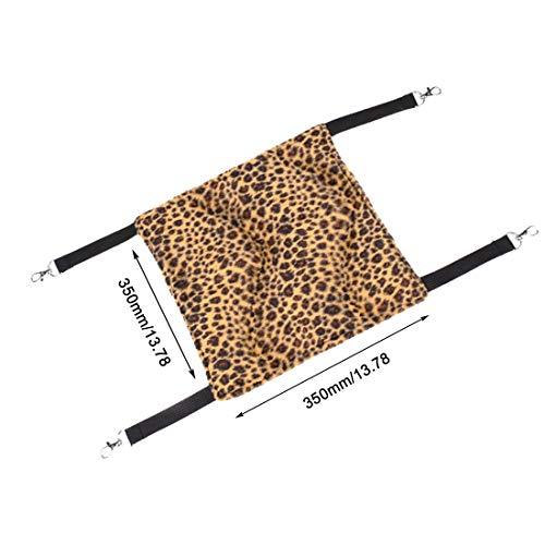 Formulaone amaca imbottita in velluto di agnello amaca con stampa leopardo letto amaca confortevole appeso a letto e amache riposanti - marrone