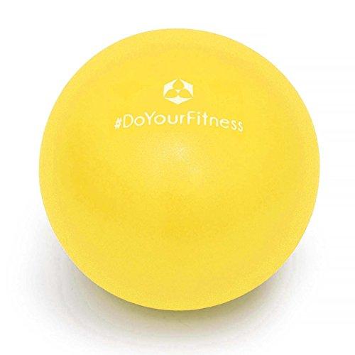 #Mini Pilates Ball »Balle« 18cm / 23cm / 28cm Gymnastikball für Beckenübungen, Stärkung der Bauchmuskulatur und partielle Massage. gelb / 28cm#