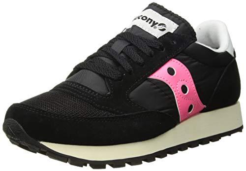 Saucony Damen Jazz Original Vintage Sneakers, Schwarz (Black/Pink 61), 39 EU Black Multi Suede Schuhe