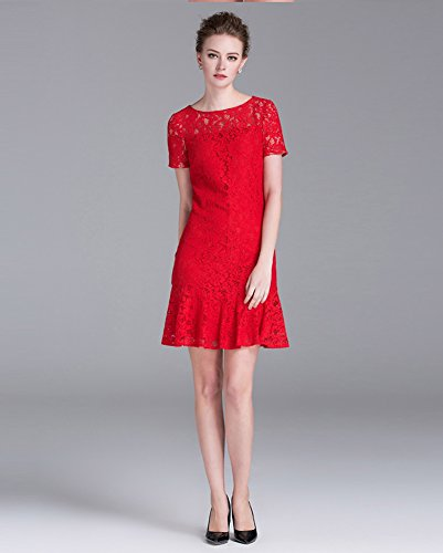 Sarah Dean Newyork - Robe - Robe - Femme rouge Red red