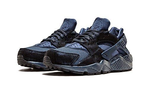Nike - Wmns Air Huarache Run Prm, Scarpe sportive Donna Blu/blu-nero (Mtlc Armory Nvy/Sqdrn Bl-Blck)