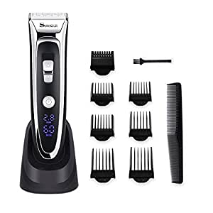 SURKER Hair Clipper Rechargeable Hair Trimmer Cordless Hair Cutting Kit with LED Display