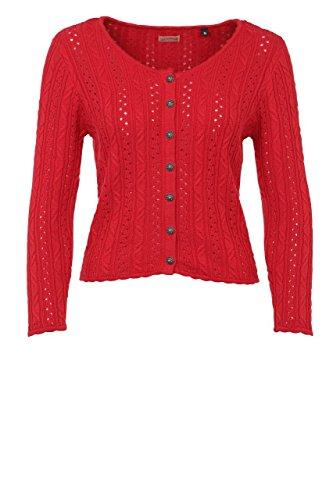 Stockerpoint - Damen Trachten Strickjacke, Liz, Größe:38;Farbe:Rot
