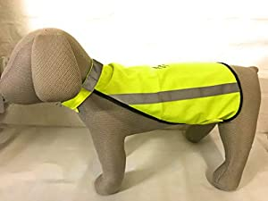 Weiß Hunde Warnweste, Sicherheitsweste S Rückenlänge 35cm