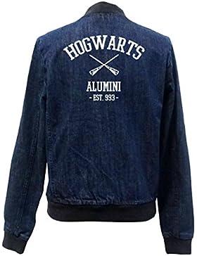 Hogwarts Alumini Bomber Chaqueta Girls Jeans Certified Freak