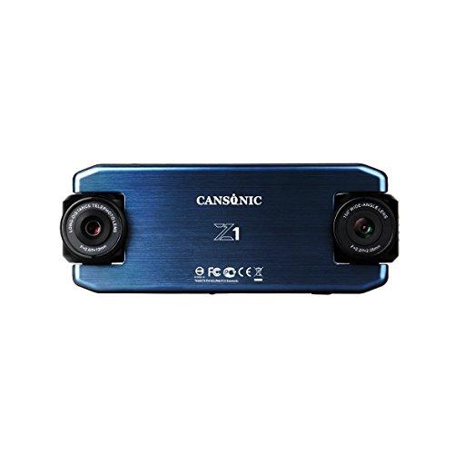 Cansonic UltraDuo Z1 - Auto Dashcam 1080P - Kompakte Auto-Kamera mit Recorder HD - Doppellinse - Digitales Dashboard - 150° Weitwinkel - 50 Meter Zoom - G-Sensor - WDR-Nachtmodus