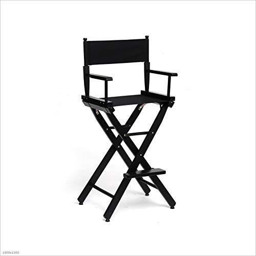 QIDI Chaise Pliante , Chaise Haute Chair Chaise de Maquillage Chair Chaise de Croquis extérieure , Hêtre , Facile à Transporter - 76 * 116cm - Multicolore en Option (Couleur : Noir)